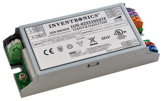 LUG-025SxxxDTE Indoor IP20 LED Drivers