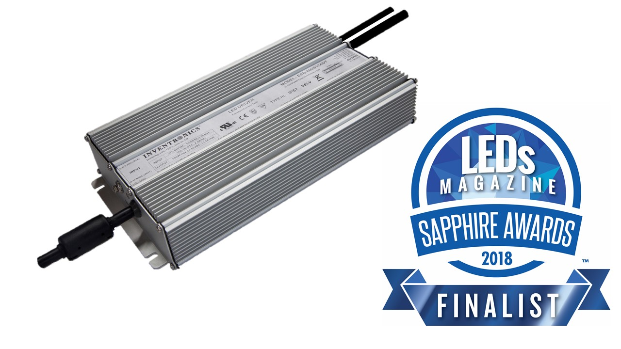 EUD-600 LED Driver 2018 Sapphire Awards Finalist