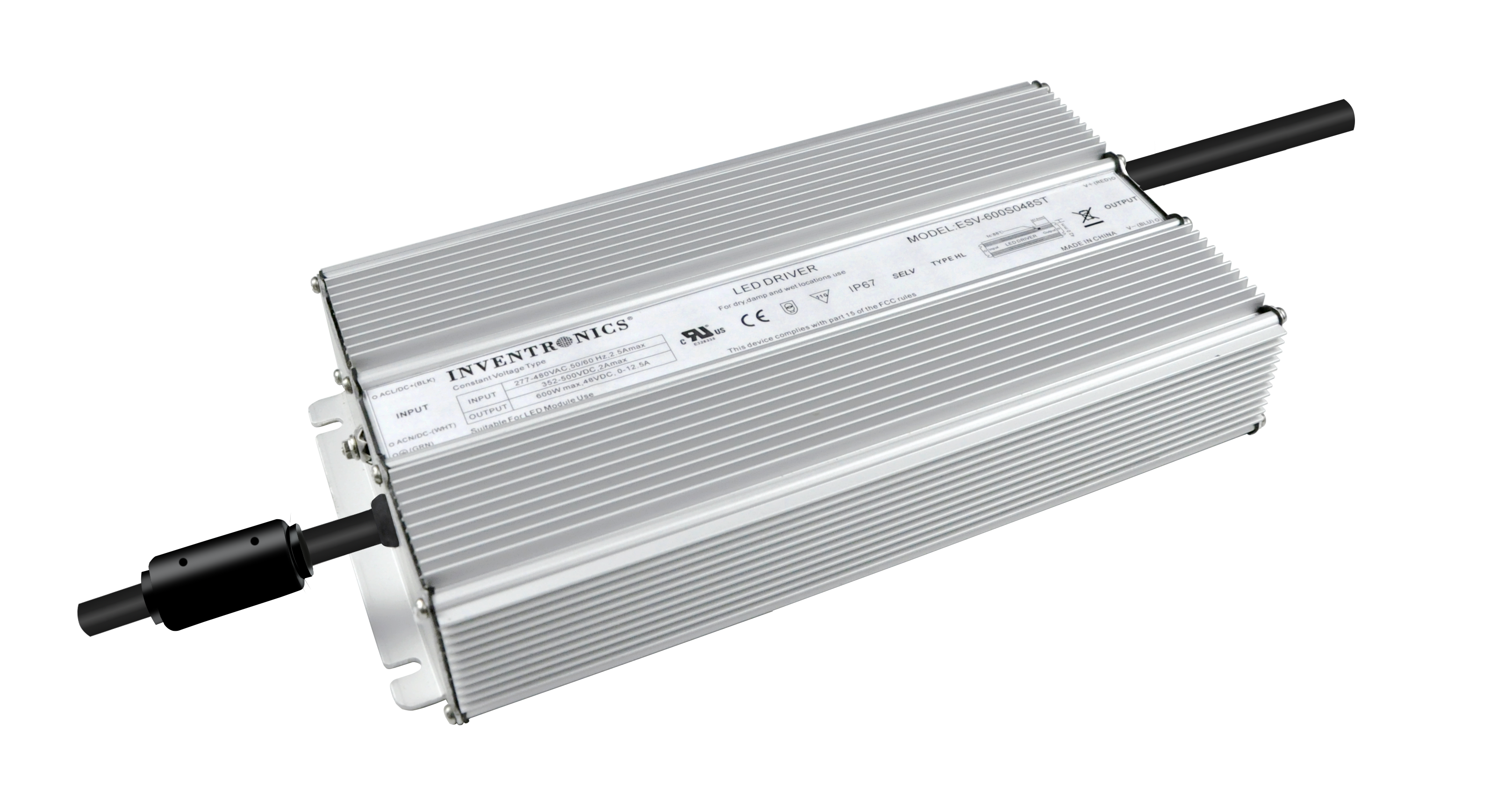 ESV-600 Constant-Voltage IP67 LED Drivers