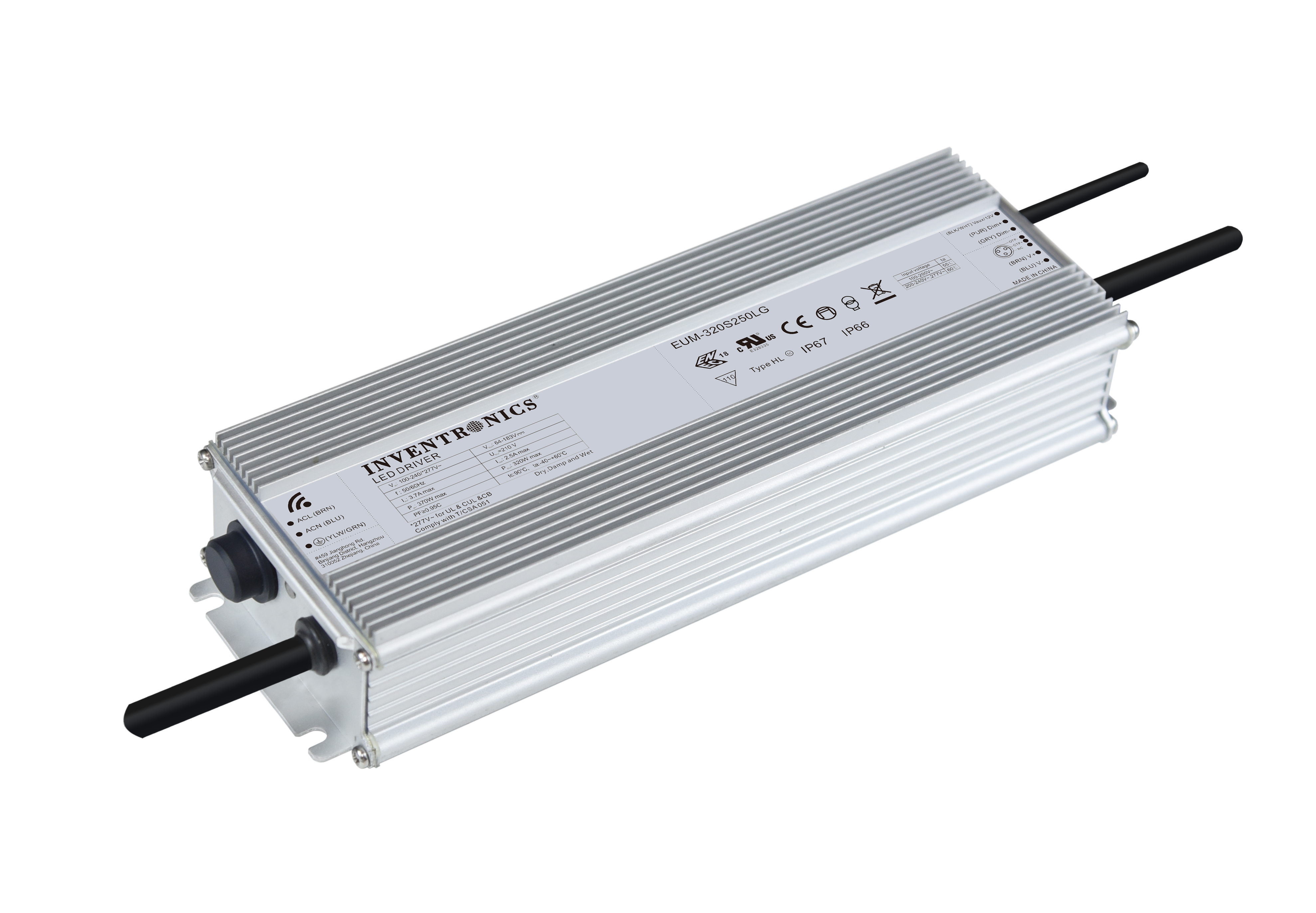 320W LED Drivers with Power Monitoring